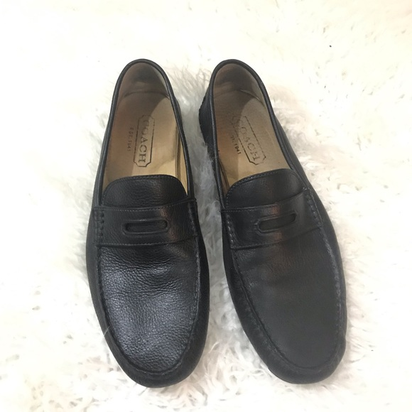 Coach Other - Coach Neal black leather loafers size 11.5